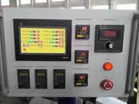 Станок для облицовывания погонажных изделий WoodTec 300B, пулбт на уровне глаз оператор