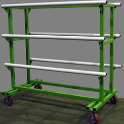 Пресс вакуумный «MASTER-COMPACT», передвижная стойка для рулонов пленки ПВХ