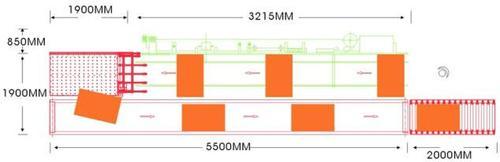 Автоматический возвратный конвейер «FL - 63», схема габаритных рамеров в зависимости от модификации
