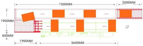 Автоматический возвратный конвейер «FL - 63», схема габаритных размеров