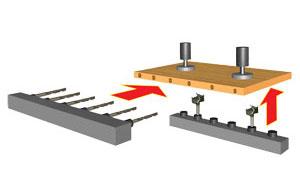 Сверлильно-присадочные станки Boring System 21 Prestige, System23, System 29 (Италия) , схема обработки