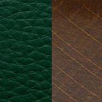 темно-зеленая/ дерево - орех