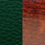 темно-зеленая/ дерево - махагон