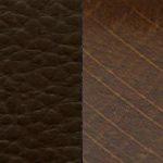 темно-коричневая/ дерево - орех