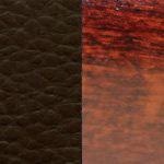 темно-коричневая/ дерево - махагон