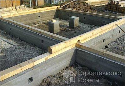 Строительство фундамента под сруб