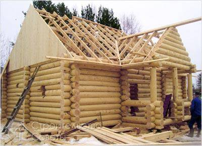 Строительство крыши для бани из бруса