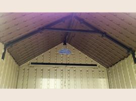 Крыша армирована металлическим профилем