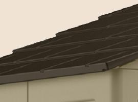 армированная металлом пластиковая крыша