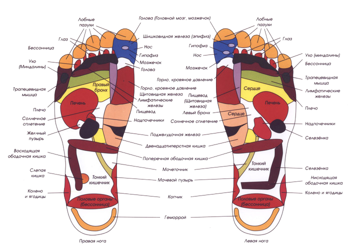 о пользе массажа ног