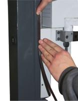 Оси Z и X: обработанные 9 мм пазы для монтажа измерительных лент устройств цифровой индикации