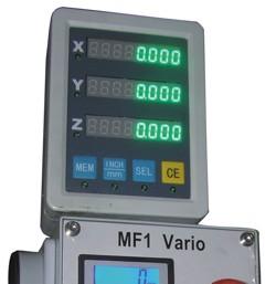 Станок MF1 Vario - устройство цифровой индикации