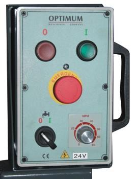 Ленточнопильный станок Opti S150G Vario: панель управления
