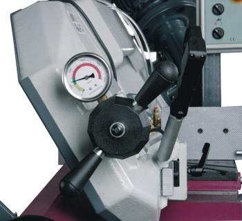 Ленточнопильный станок Opti S285DG: натяжение пильного полотна