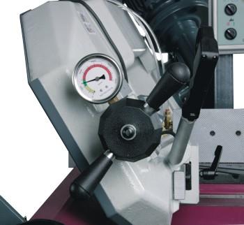Ленточнопильный станок Opti S310DG Vario: натяжение пильного полотна