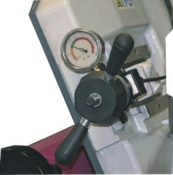 Ленточнопильный станок Opti S350DG: натяжение пильного полотна