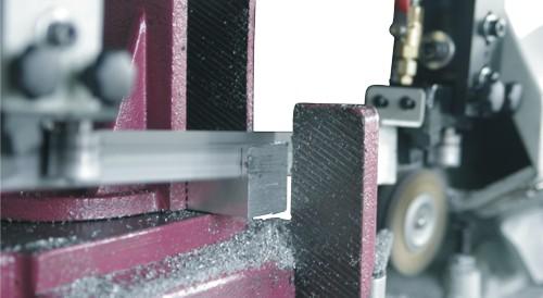 Ленточнопильный станок Opti S350G: процесс резания