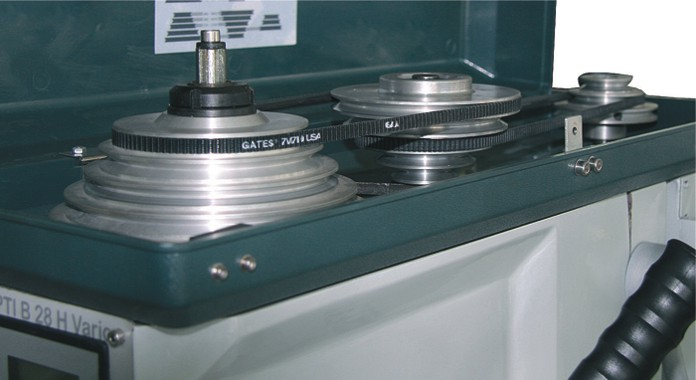 Качественный клиновой ремень и алюминиевые шкивы привода станка