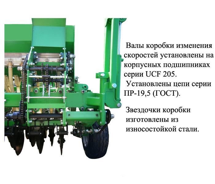 Коробка высева скорости семян сеялки Ника-4 Велес Агро