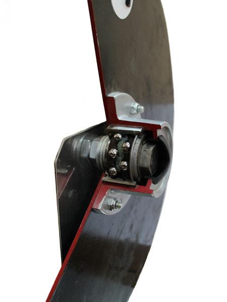 Диск сошника сеялки с двухрядным подшипником