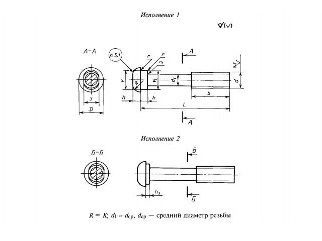 чертеж Болт стыковой М27х160