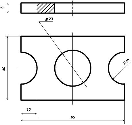 чертеж плоская шайба-скоба цп