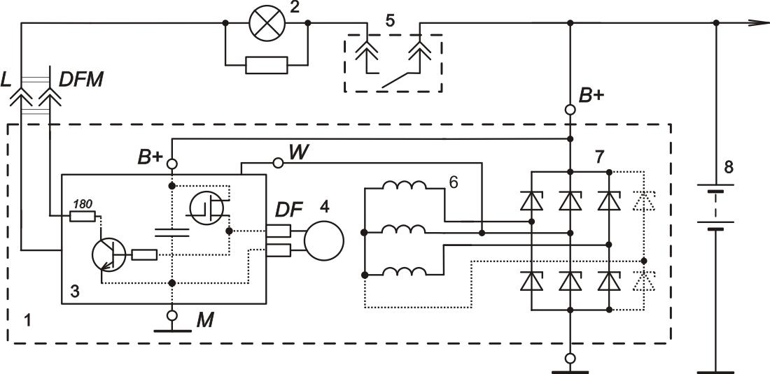 Схема включения регулятора напряжения 9555.3702