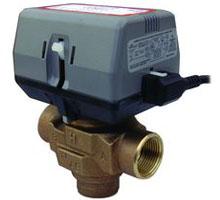 Трехходовой клапан с электрическим сервоприводом VTS