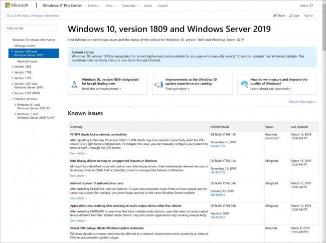Microsoft официально анонсировала Windows 10 May 2019 Update
