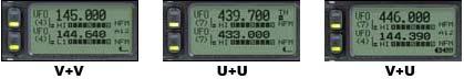 Комбинация двух независимых любительских радио диапазонов