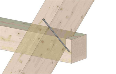 8. Крепление стропил/балок