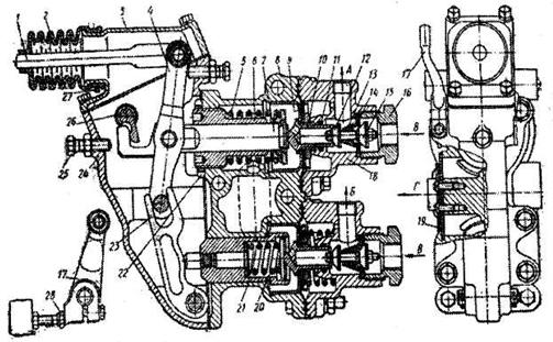 гальмівний кран зіл-131 схема пристрою