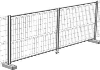 Ворота временного ограждения Grand Line