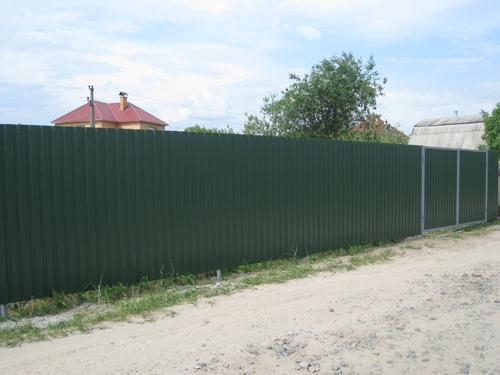 Забор из профнастила Киевская область