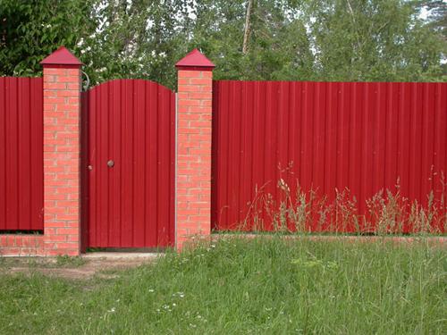 Забор из профнастила Киев