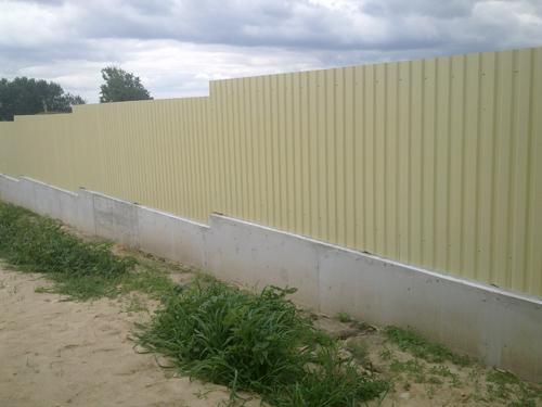 Ступенчатый забор из профнастила Киевская область Киев