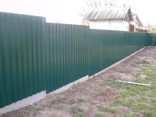 Забор из металлических листов Киев