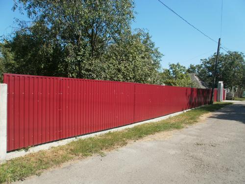 Забор из профлиста Киев