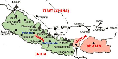 Дарджилинг на карте