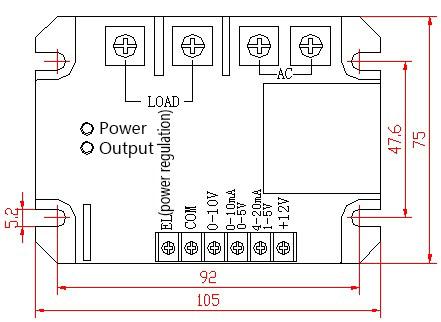 1 Однофазный интеллектуальный модуль регулирования напряжения переменного тока SSR Твердотельное реле
