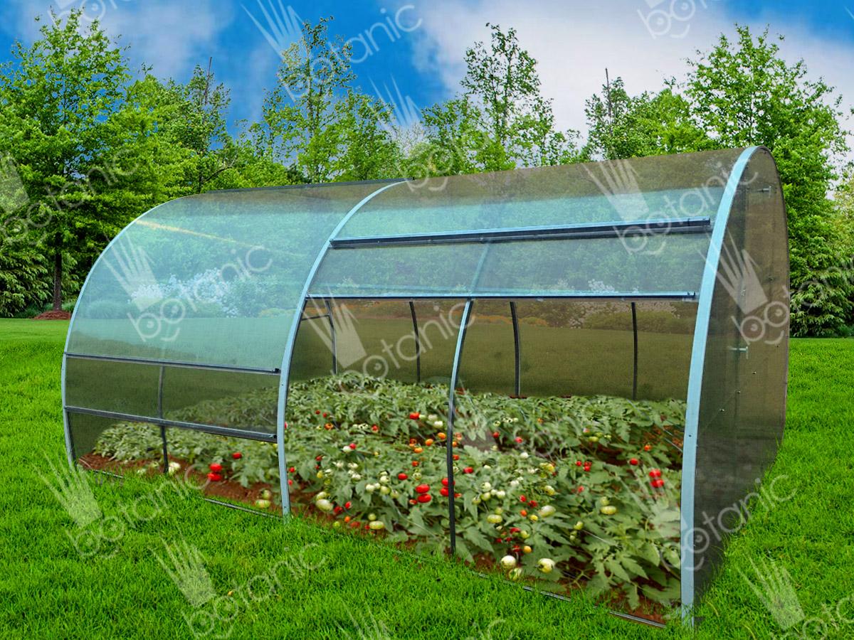 Урожай в теплице с раздвижной крышей Ботаник™ ТЮЛЬПАН
