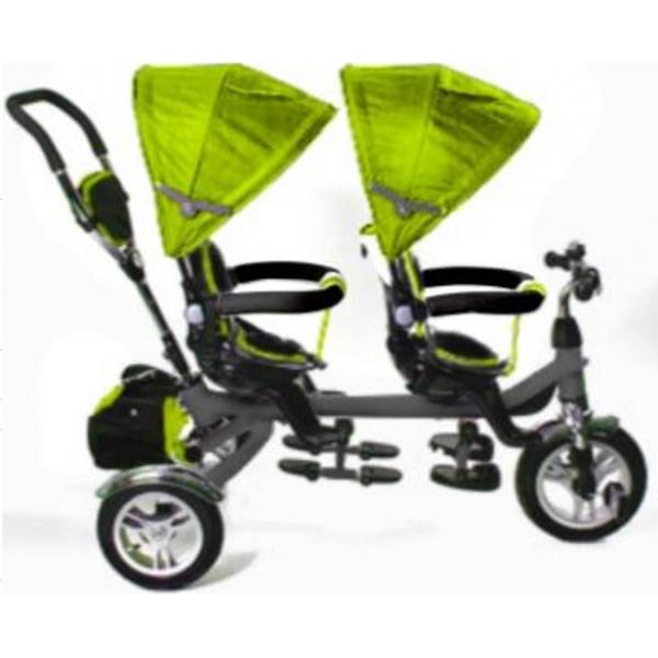 картинка Велосипед трехколесный для двойни BA TWINS  от магазина Аистенок