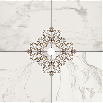 Vallelunga I Marmi +25118 Декор керамич. COMP.CALACATTA DEC 4P, 120x120