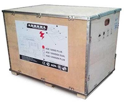 Упаковка бензинового генератора Aurora AGE 12000 D PLUS
