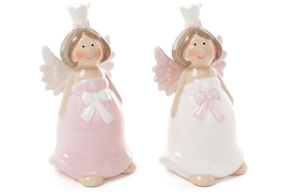 Декоративна керамічна фігурка Ангел 2 види 13см BonaDi 834791