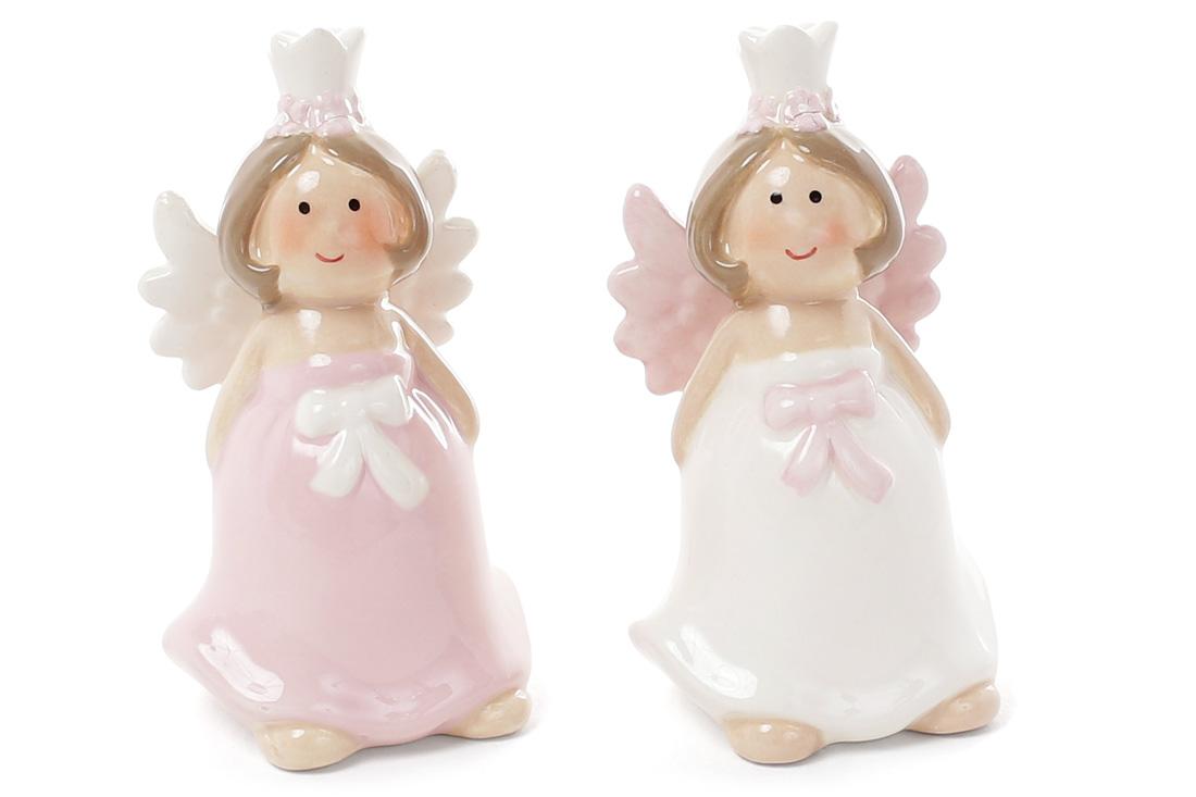Декоративна керамічна фігурка Ангел 2 види 8см BonaDi 834792