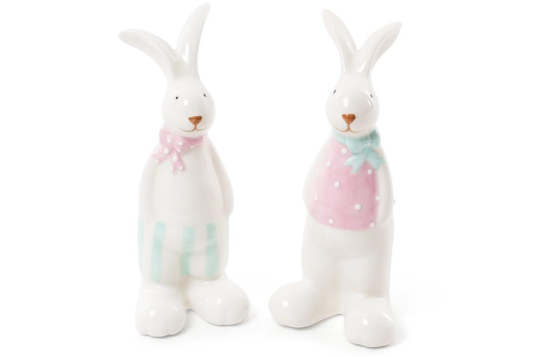 Декоративная керамическая фигурка Кролик 2 вида 12см BonaDi 872814