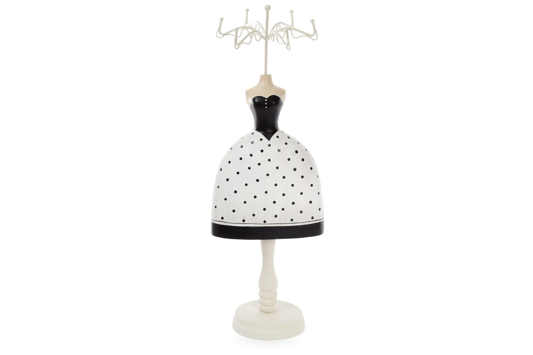 Подставка для украшений Платье 40.5см цвет белый с черным BonaDi 489 329