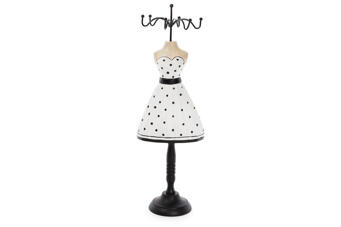 Подставка для украшений Платье 32.5см цвет черный с белым BonaDi 489 330