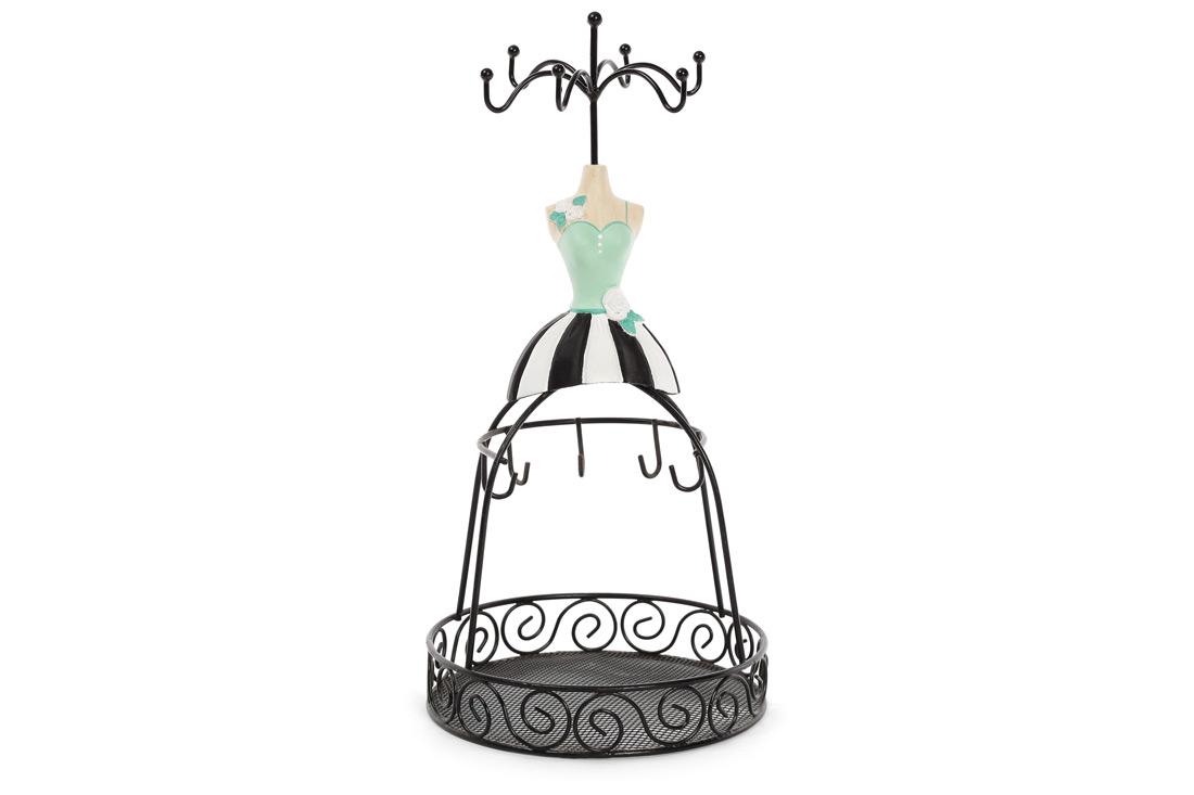 Подставка для украшений с сеткой Платье 285см цвет черный BonaDi 489331
